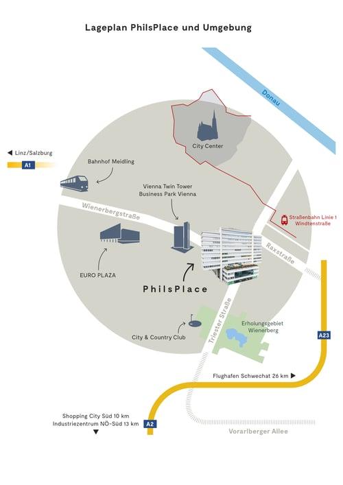 Lageplan PhilsPlace Umgebung